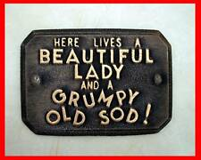 GRUMPY OLD SOD wall sign. Shed sign.  Garden plaque. Funny Sign