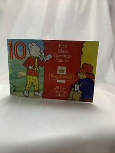 Rupert & Other Story 10 First Class Royal Mail Stamps/Stickers  Booklet 1994 New