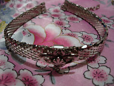 silver vintage Whiting Davis mesh snake necklace choker sparkly chainmail disco