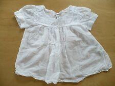 haut ZARA  5 - 6  ans Fille 100% coton Boho blanc été manche courte blouse