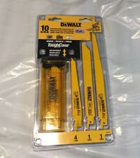 🇺🇸NEW DeWalt 10pc Reciprocating Saw Blade Kit with Bonus Case Model# DW4898