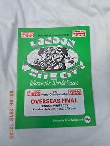 WORLD SPEEDWAY CHAMPIONSHIP OVERSEAS FINAL 4 JULY 1982