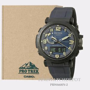 Authentic Casio Pro Trek Mens Tough Solar Power Watch PRW6600Y-2CR