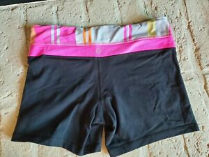 Woman Fitness Lululemon Shorts. See measurements for size