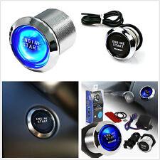 Blue Illuminated Universal Car Push Start Button Ignition Engine Starter Switch