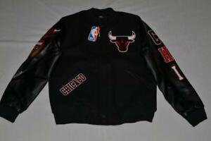 PRO STANDARD CHICAGO BULLS BLENDED LOGO VARSITY  JACKET ALL SIZES BLACK NEW