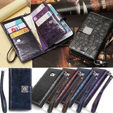 Sapphire Blue Wallet Case for LG G7 G6 G5 G4 G3  V30 V20 V10 / Apple iPhone 6 6s