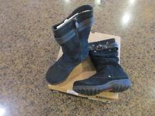 Khombu Womens 6M Mallory winter Snow Boot Black leather Zipper side NIB New