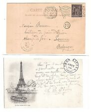 34) 1900 World Exhibition during Olympic Games card machine cancel Paris Expo