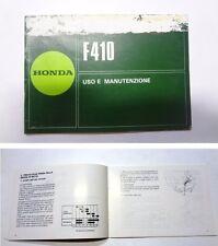 Manuale manual libretto uso manutenzione motozappa tiller HONDA F 410 used