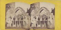 Italia Italia Monaci Trappisti Stereo Vintage Albumina Ca 1860-65