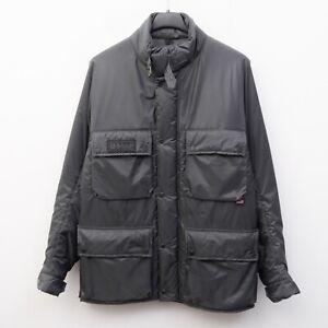 BELSTAFF Nylon Tourmaster Men L insulated Jacket Motorcycle Coat Biker Warm Grey