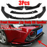 For Toyota Corolla 2019 Carbon Fiber Look Front Bumper Lip Body Kit Cover 3PCS