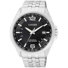 Schwarze Armbanduhren mit Atom -/Funkuhr-Funktion und mattem Finish