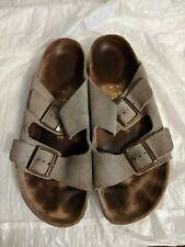 Birkenstock Arizona Tan Suede Slide Sandals Shoes Women's 41/10 N