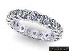 3.60Ct Round Diamond Shared U-Prong Wedding Eternity Ring 14k White Gold I Si2