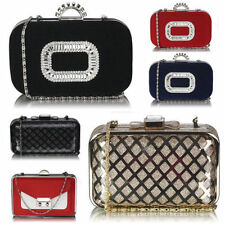 Clasp Leather Clutch Bags with Detachable Strap