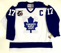 WENDEL CLARK TORONTO MAPLE LEAFS CCM VINTAGE JERSEY NHL 75TH NEW WITH TAGS