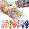 Flower Transfer Manicure Decor Nail Foil Nail Art Stickers Holographic Decals--