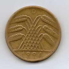 GERMANY - 10 Reichspfennig 1924 D Aluminium-bronze – 4.05 g – ø 21.0 mm