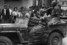 WW2  Photo WWII US Army Troops in Jeep Ardeche France 1944 World War Two / 1615