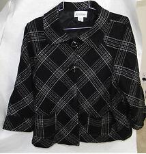 Motherhood maternity Jacket coat, Size Small, Beautiful pattern Black with White