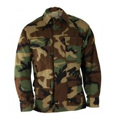 LADIES BDU SHIRT COAT CAMOUFLAGE JACKET 4 POCKETS BUTTON DOWN ARMY SIZE SMALL/SH