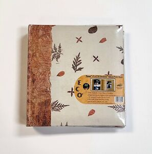"""Pioneer ECO Bi-Directional Natural Leaf Photo Album 9"""" x 9.5"""" Holds 200 Pictures"""