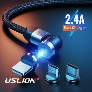 3in1 Magnetic Charger Data Cable For iPhone 12 Pro 7 XR Samsung S9 S8 Huawei P20