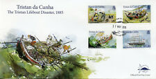 Tristan da Cunha 2015 FDC Lifeboat Disaster SV West Riding 4v Cover Ships Stamps