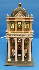 Heritage Village Collection Christmas in the City Series First Metropolitan Bank
