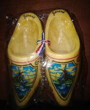 """Vintage Holland Decorative Hand Painted Wooden Shoes Klompen length 6.5"""""""