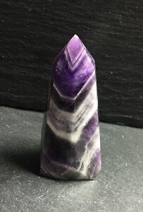 Chevron (Dog Tooth) Amethyst Crystal Point 93g 75mm Brow Chakra Healing CAP3
