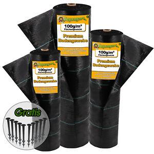 Bodengewebe Unkrautvlies Unkrautfolie Gartenvlies Folie 100g UV Geotextil %