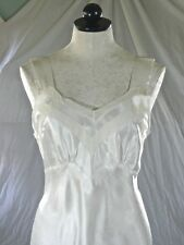 CORTICELLI vintage 30s 40s WHITE SATIN NEGLIGEE trousseau bridal S