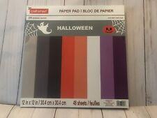 Craftsmart HALLOWEEN 12  X 12 Scrapbook Paper Pad 48 Sheets ~ New