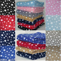 Polar Fleece Anti Pill Fabric Premium Quality Soft Twinkle Star Print PF227