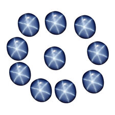 60 Ct./10 Pcs Natural Oval Cabochon 6 Rays Star Blue Sapphire Loose Gemstone Lot