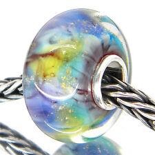 MURANO GLASS LUXURY BEAD 925 STERLING SILVER OOAK  EUROPEAN CHARM BEADS 3145