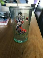 A RARE FLAMENCO 150th ANNIVERSARY- BACARDI RUM GLASS-MAN SHED/CAVE-COLLECTORS