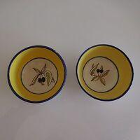 2 bols céramique faïence Provence olives art déco design XXe PN France