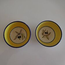 2 bols en céramique faïence Provence