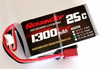 RoaringTop LiPo Battery Pack 25C 1300mAh 3S 11.1V with Deans Plug