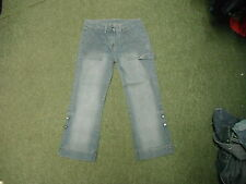 """Principles Cropped Jeans Size 10 Leg 24"""" Faded Light Blue Ladies Jeans"""
