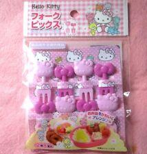 SANIRIO HELLO KITTY Japanese Lunch Box Bento Food  FORK Picks 8pcs  KAWAII!!
