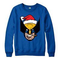X-Men Logan Christmas Jumper, Wolverine Marvel Festive Adult & Kids Jumper Top