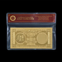 WR Gold Foil Note Qatar 50 Riyals Banknote Paper Money Collectible Gifts For Man