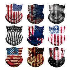 9pcs America Flags Seamless Face Tube Gaiter Headband Scarf Headwear Bandana Set