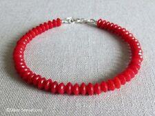 """Coral Beaded Natural 7.5 - 7.99"""" Fine Gemstone Bracelets"""