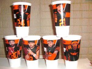Full Set 6 CLEVELAND BROWNS McDonalds Cups Mayfield, Beckham, Garrett, Chubb +